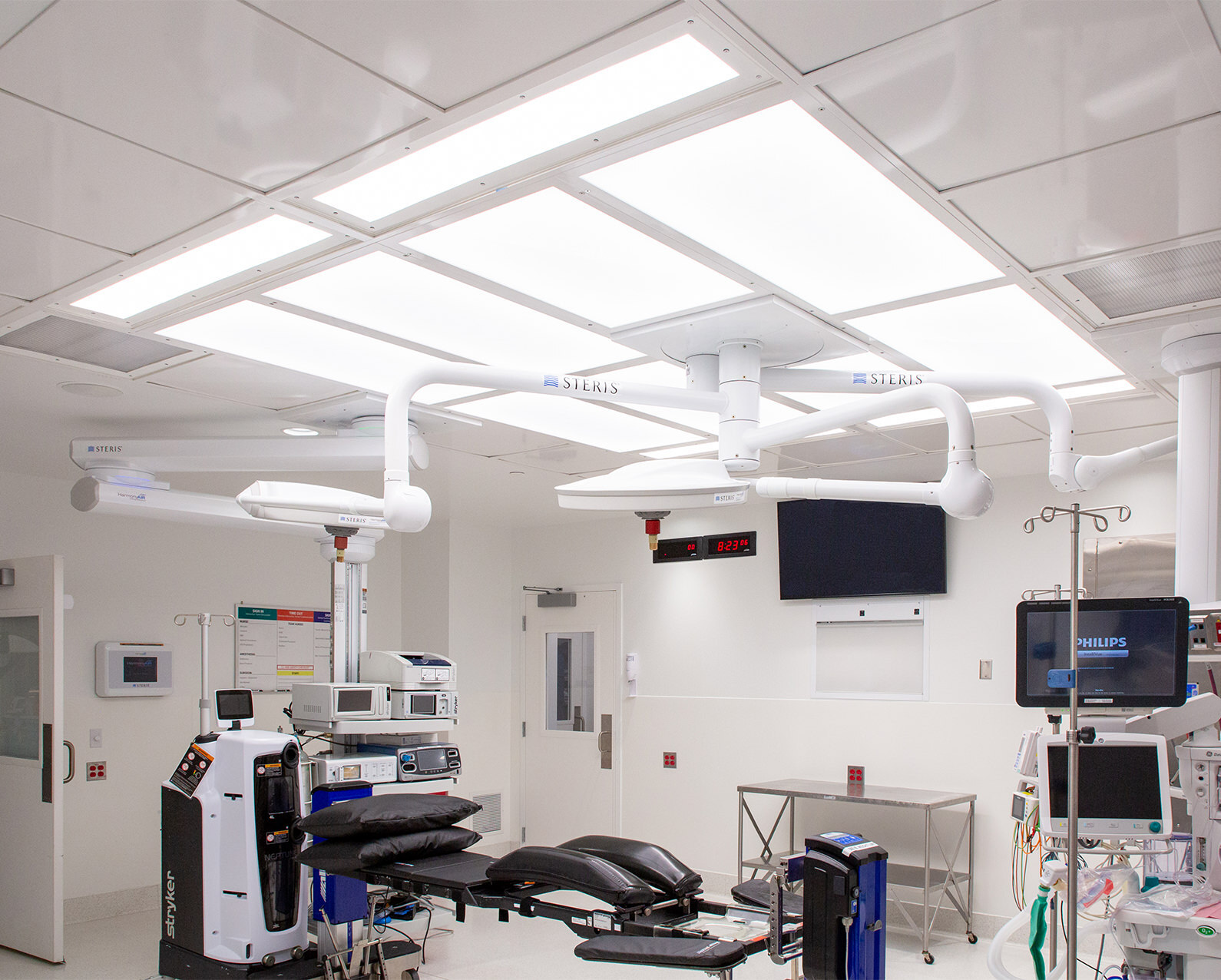 Operating Room with the Ultrasuite lighting/diffuser system