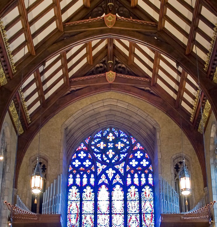 First Presbyterian Organ Ceiling